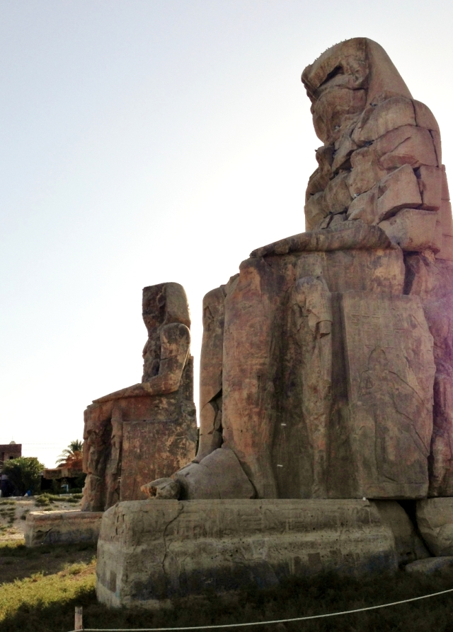 They are made from sand lime stone and are located on the West Bank in Luxor