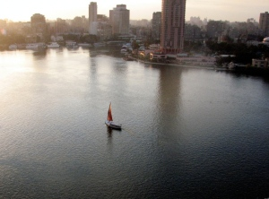 Cairo, the Nile and its Felucas
