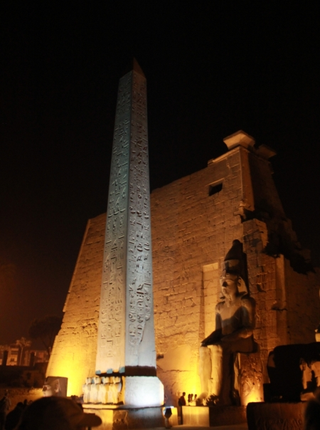 In front of Luxor Temple the Obelisk matching the one in Paris